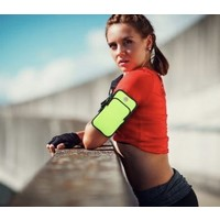 PP03 Neon Green Sports Armband Pouch