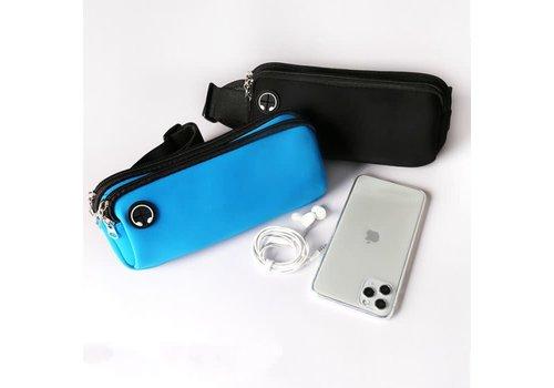 Peach Accessories PP02 Black double zip bum bag