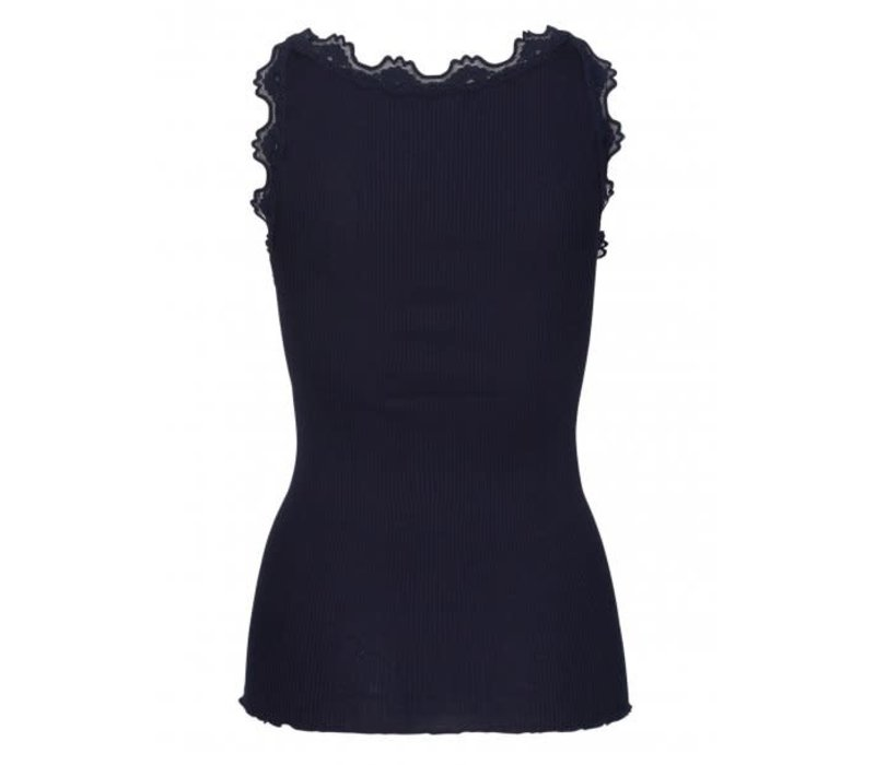 Rosemunde 5405 Navy Silk & Lace Top