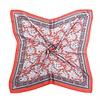Peach Accessories F670 Bright Red silky square Scarf