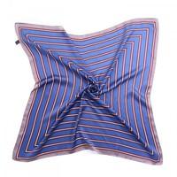 F667 Blue/Wine stripes square Scarf