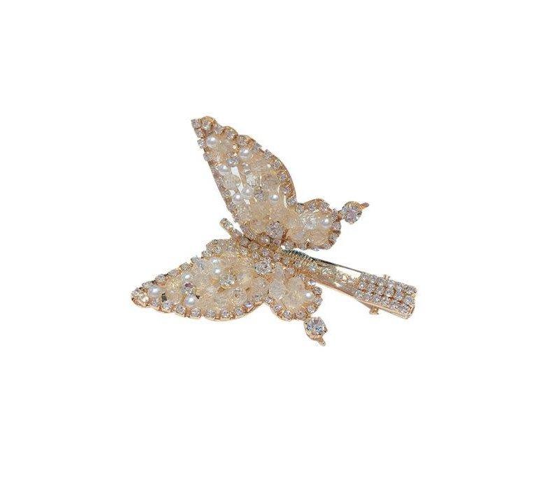 HA201 Crystal Butterfly Clip