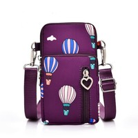 PP04 Plum X-body Bag with Balloons