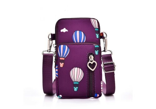 Peach Accessories PP04 Plum X-body Bag with Balloons
