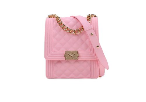 Peach Accessories 2036 Baby Pink Bag with chain
