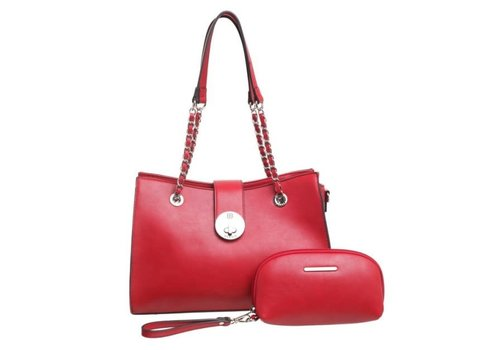 BESSIE London BH2724  Red Bag with Chain