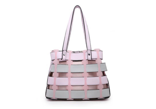 Footprints 36598 Pink multi Lattice Bag