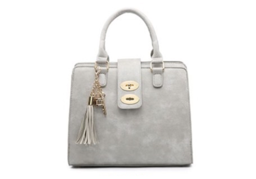 Footprints 34991 Grey 3 pocket Handbag
