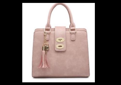 Footprints 34991 Pink 3 pocket Handbag