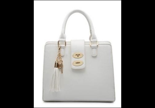Footprints 34991 White 3 pocket Handbag