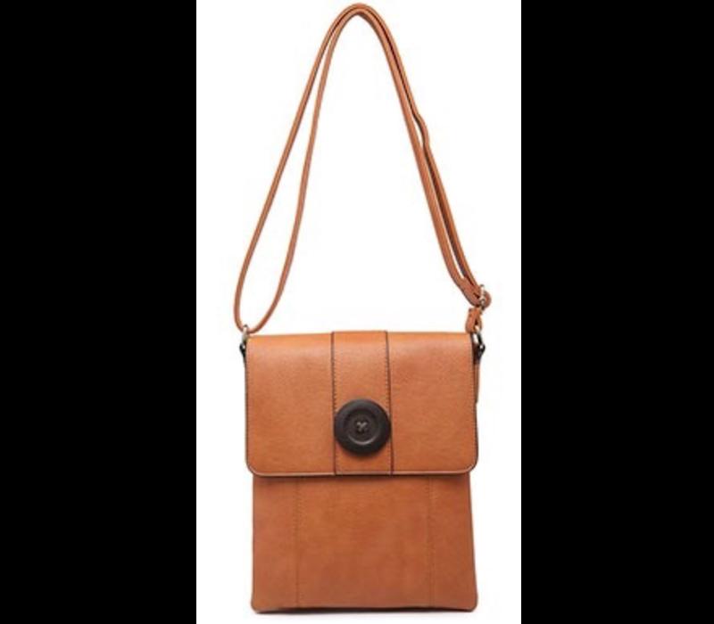 9822 Tan Cross body Bag