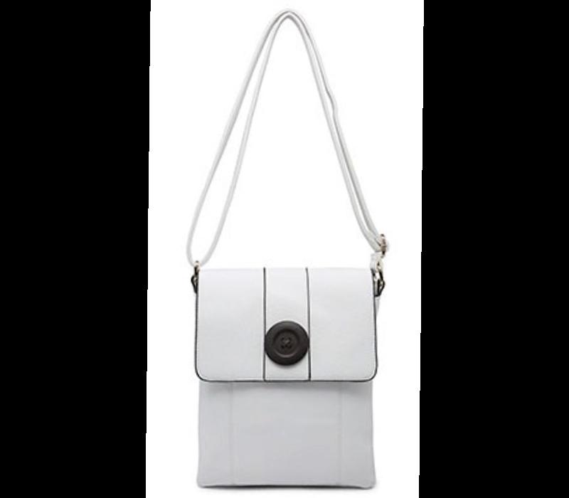 9822 White Cross body Bag