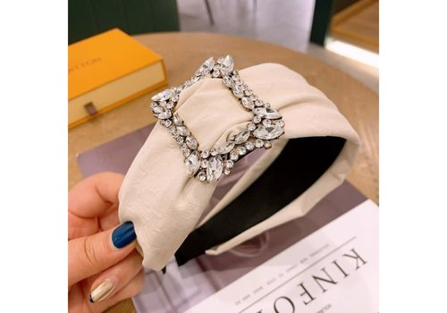 Peach Accessories HA713 Square Crystal Buckle Hairband