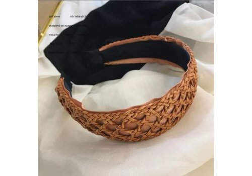Peach Accessories HACH613  Tan Bamboo Hairband