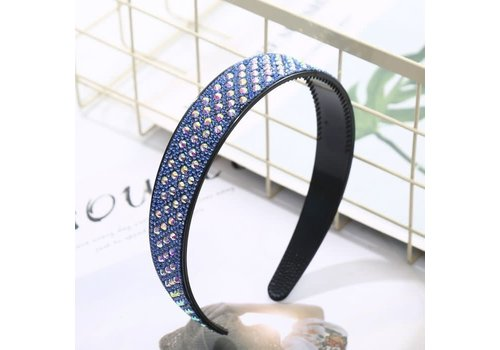 Peach Accessories HA206 Blue Crystal Hairband