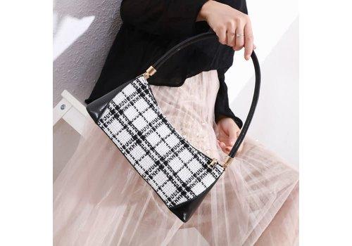 Peach Accessories 9018 Black/Cream Tweed Bag