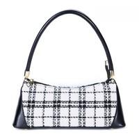 9018 Black/Cream Tweed Bag