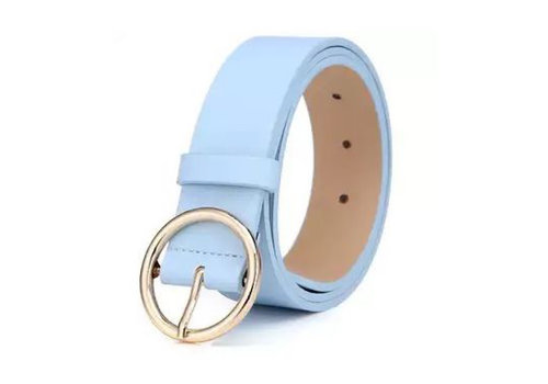 Peach Accessories BEL027 Baby Blue Leather Belt