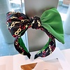 Peach Accessories HA726 Green multi Hairband with Bow