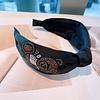 Peach Accessories HA717 Black Hairband with Diamonte Bear