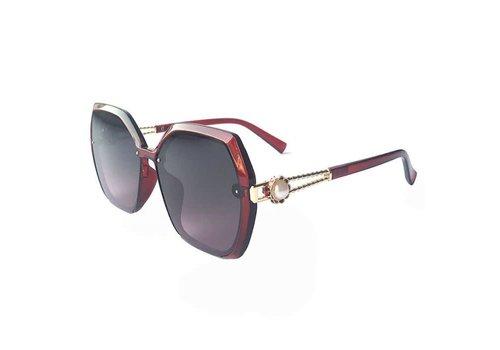 Peach Accessories 9970 Wine sunglasses with single Pearl