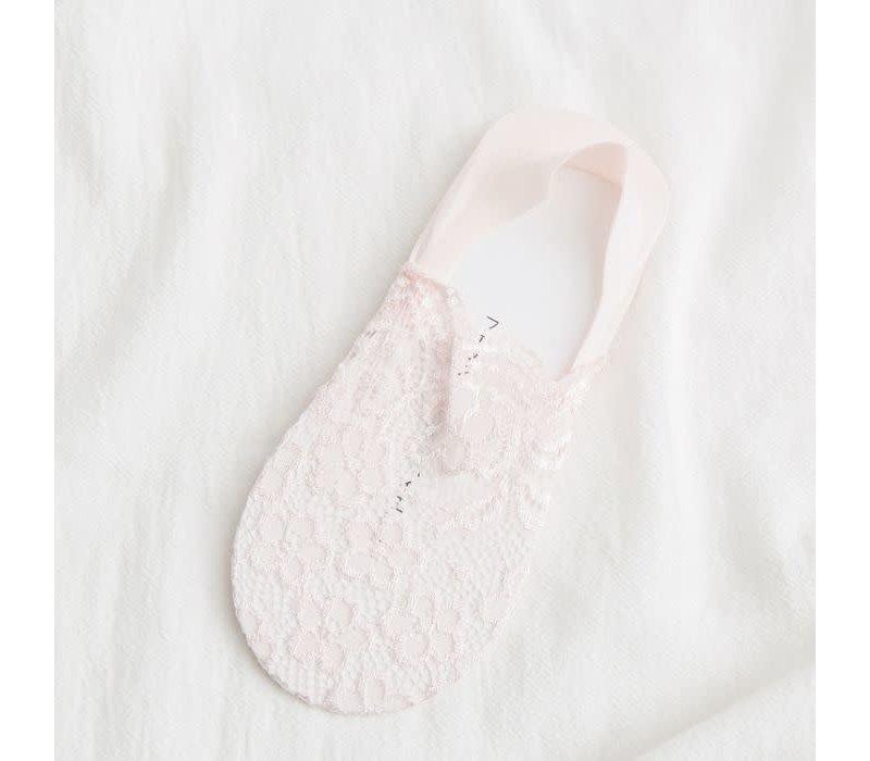 SDK024 Pale Pink Lace shoe liners