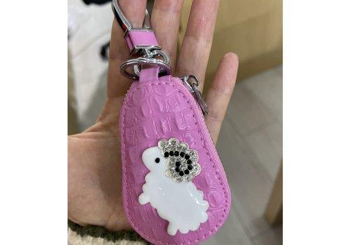 Peach Accessories 3040 Sheep key chain zipper bag
