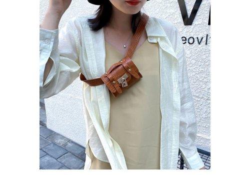 Peach Accessories BEL028 Belt Bag in Tan