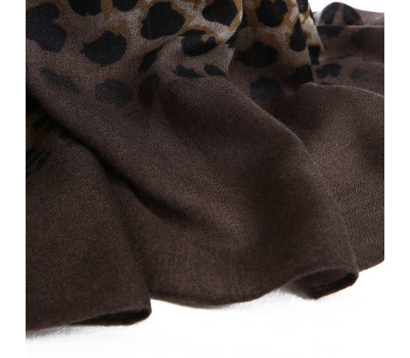 TT307 Brown Leopard print Scarf