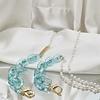 Peach Accessories 2141 Blue Marble  Glasses/Mask Chain