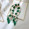 Peach Accessories F669 Large Green Polka Dot Scarf