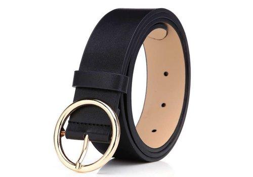 Peach Accessories BEL027 Black Leather Belt