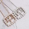 Peach Accessories BEL030 Clear Silver Pearl Belt