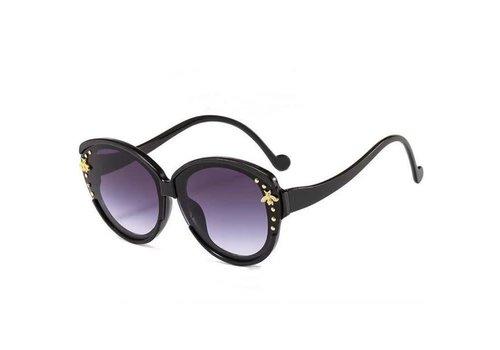 Peach Accessories 8059 Black Small Bee Sunglasses