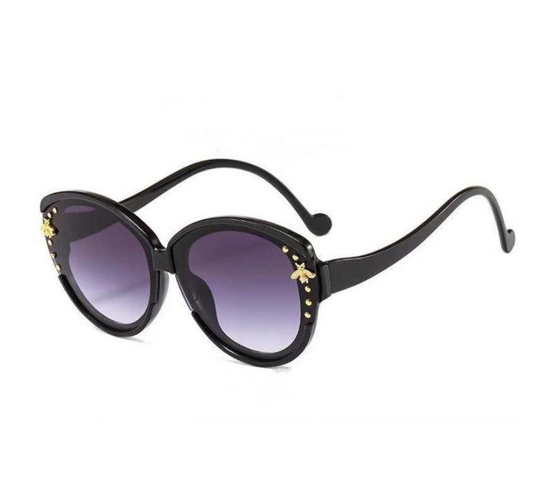 8059 Black Small Bee Sunglasses