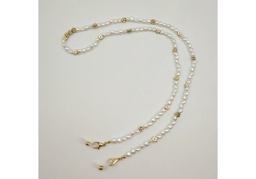 Peach Accessories SC004 Ivory Pearl Glasses/Mask Chain