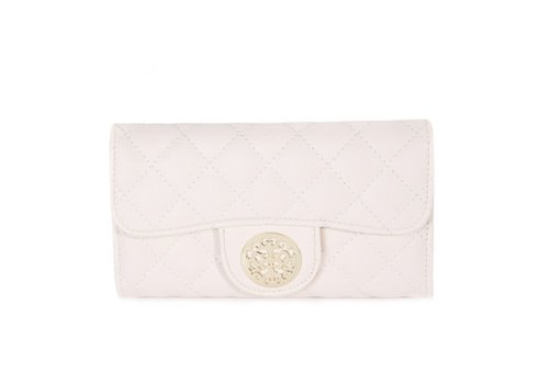 Peach Accessories 568 Tree of Life Quilted Purse Beige