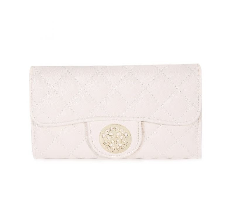 568 Tree of Life Quilted Purse Beige