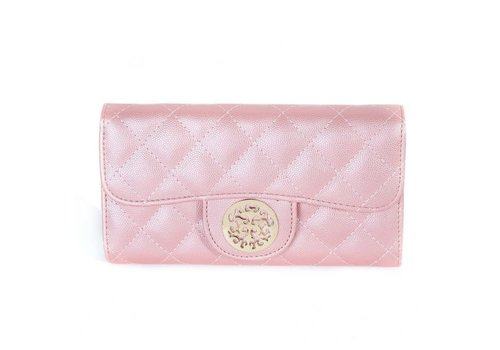 Peach Accessories 568 Tree of Life Quilted Purse Pink