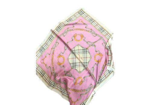 Peach Accessories F669 Chain print Hot Pink Scarf