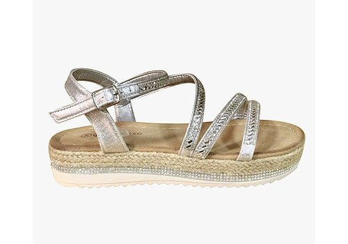 Milly & Co. Millie & Co. B816200 Silver Sandal