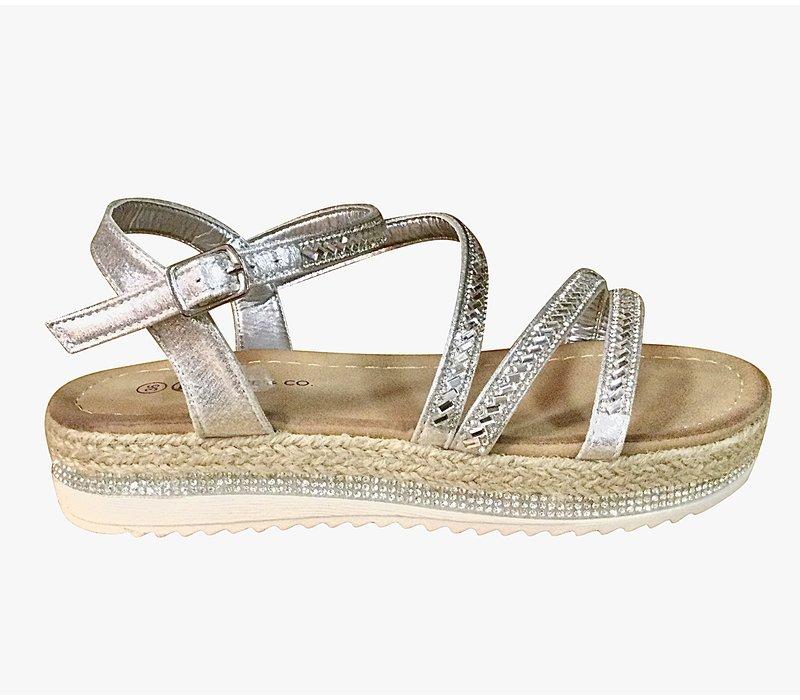 Millie & Co. B816200 Silver Sandal