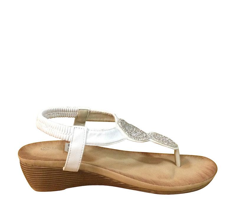 Millie & Co. B807141 White Toe-Post