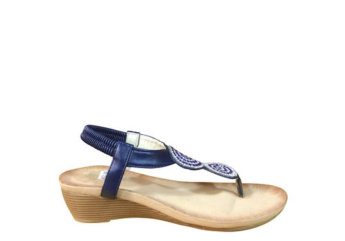 Milly & Co. Millie & Co. B807141 Navy Toe-Post