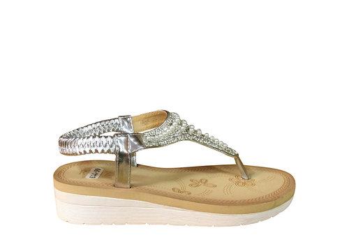 REDZ REDZ 58-4 Silver Toe-Post Sandal