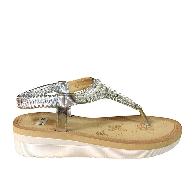 REDZ 58-4 Silver Toe-Post Sandal