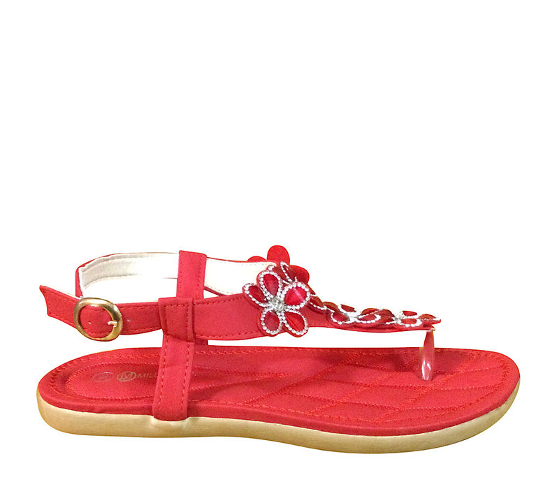 Millie & Co. B808310 Red Toe-Post