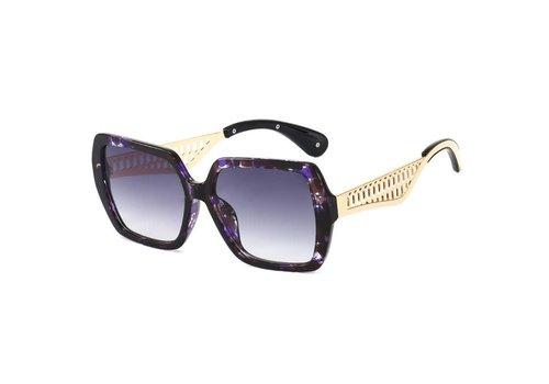 Peach Accessories 1923 Purple Marble Decorative Sunglasses
