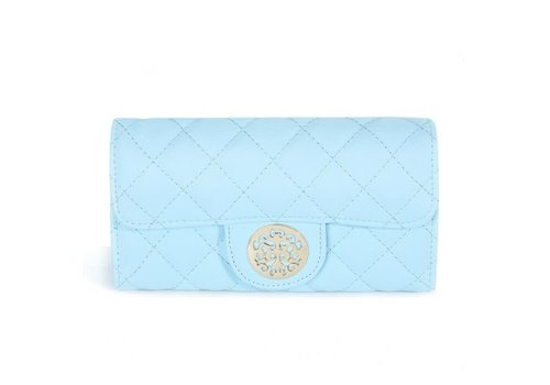 Peach Accessories 568 Tree of Life Quilted Purse Blue