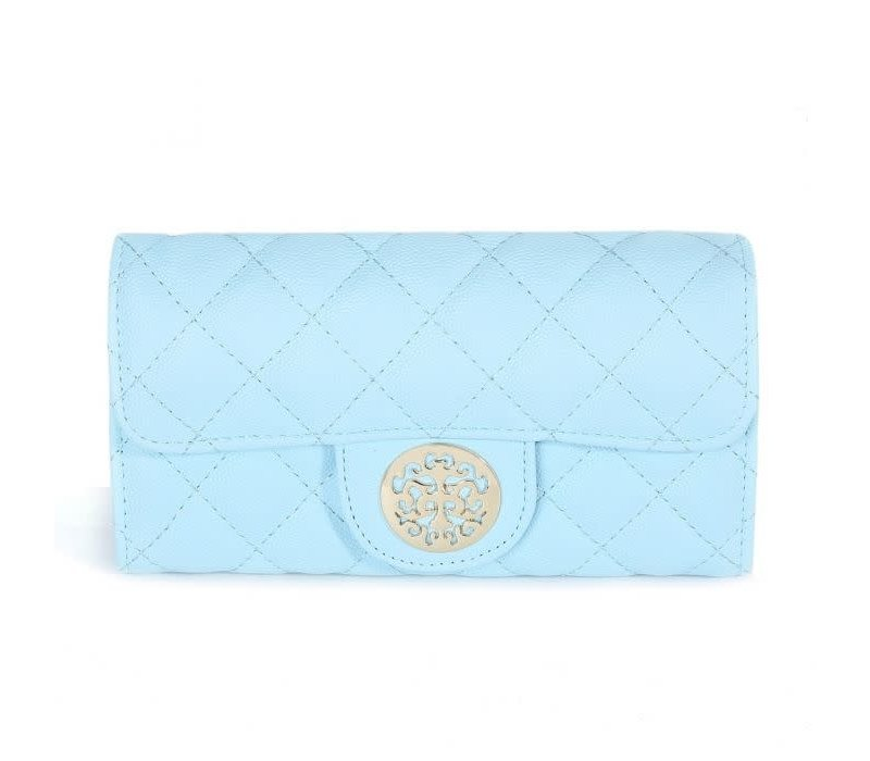 568 Tree of Life Quilted Purse Blue
